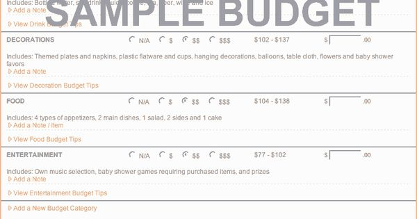 party budget estimator  figure out how much your event will cost using the evite party budget