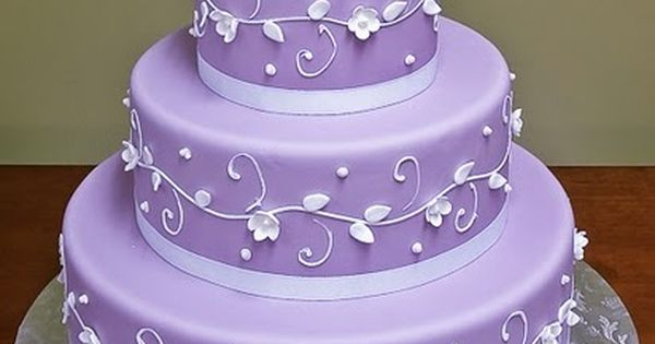 wegging cake ideas | Pretty Purple Wedding Cake Decoration Ideas with Classic