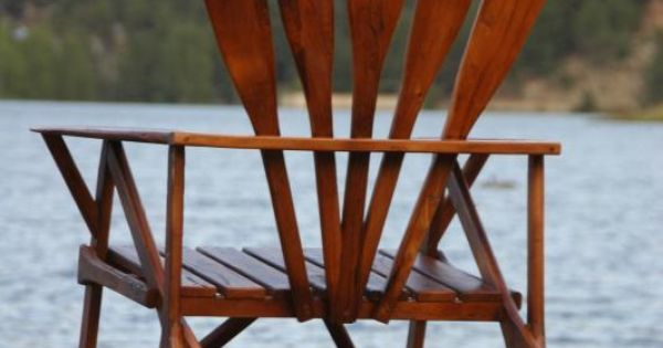 Canoe paddle chair from vintage summer decorating ideas pinterest