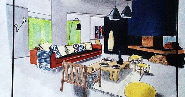 Devoir rought design espace architecture interieur for Design d interieur dessin