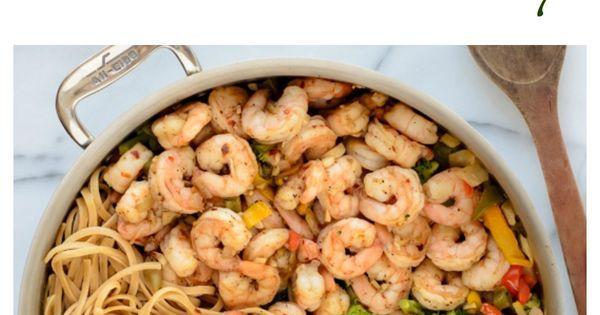 Healthy Garlic Shrimp Pasta Stir Fry. Swap the grain pasta for zucchini