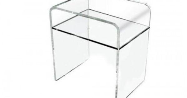 Comodino in plexiglass 33x33 h:45. Comodini in plexiglass trasparente. La soluzione elegante e ...