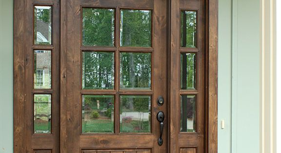 Oconee Tdl 6lt 6 8 Single Knotty Alder Door W Sidelights