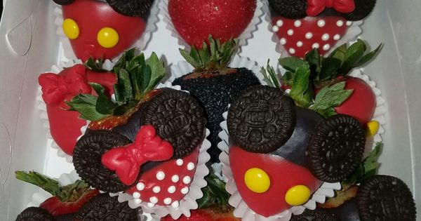 Mickey Mouse Chocolate Covered Strawberries Strawberry