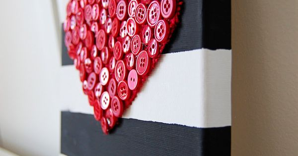 I love this idea, my love. :) A button heart on painted