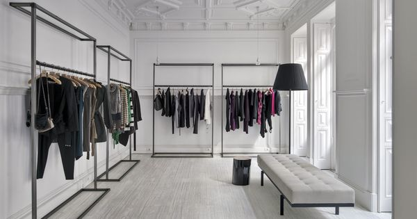 By cristina jorge de carvalho interior design interiors fashion showroom lisbon for Fashion retail interior design