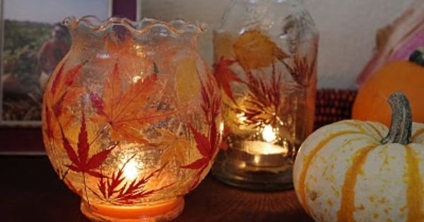 Definitely want to make these! Fall Leaf Lanterns {Tutorial} from Mom's Crafty