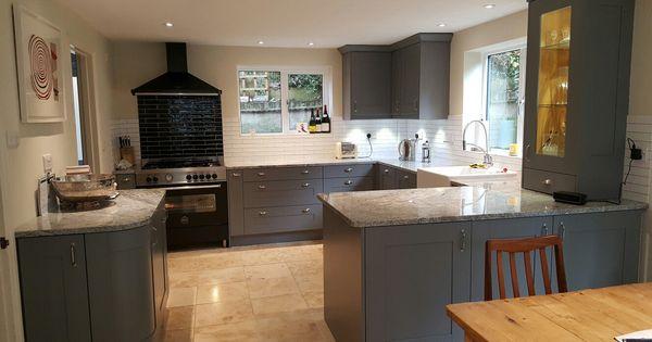 Wickes tiverton slate kitchen with granite worktops for Kitchen 0 finance wickes