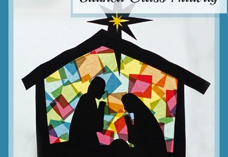 Creative ways to teach kids the true meaning of Christmas. Stained glass