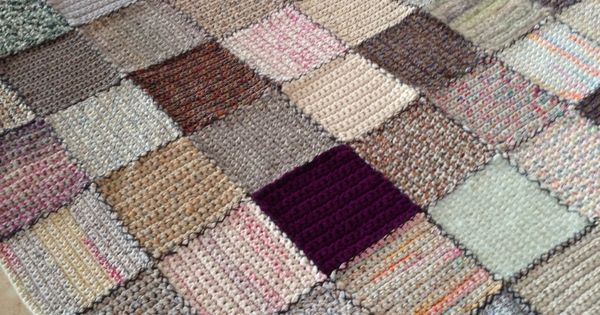 Crochet Afghan Patterns That Look Like Quilts : Crochet patchwork afghan - no pattern but looks like ...