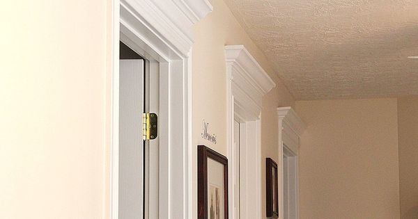Crown molding above door foyers stairs halls pinterest for Over door decorative molding
