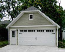 Custom Garages Blue Sky Builders Craftsman Remodel Custom Garages Garage Door Types