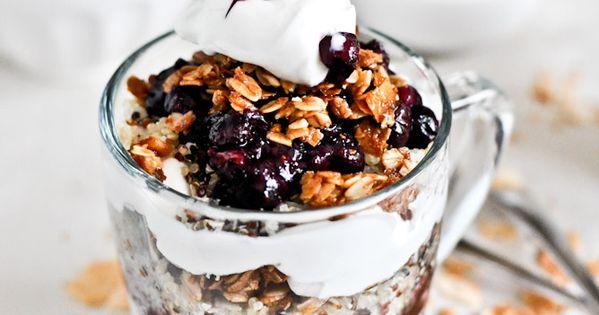 granola and yogurt trifle