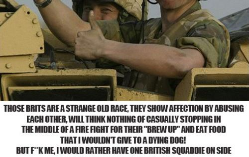 Words Of An American Soldier About The British Army British Army Quotes Military Jokes Army Memes