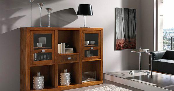 Aparador vajillero realizado en madera de nogal americano y con 2 puertas y 1 caj n mueble - Samarkanda muebles ...