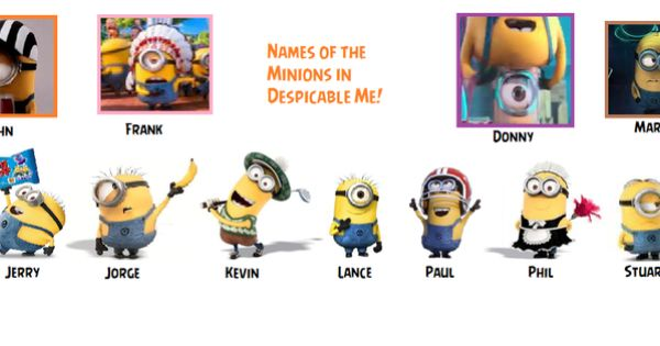 Despicable Me - Names of the Minions by AngryBirdsStuff ...