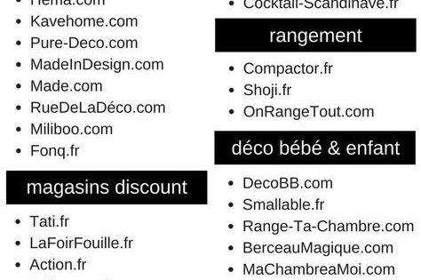 la liste des boutiques conna tre pour la maison meubles en ligne course en ligne et magasin. Black Bedroom Furniture Sets. Home Design Ideas