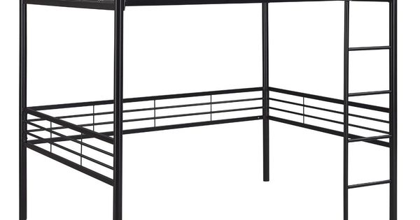 Open Up Space In Any Room With This Metal Full Size Loft