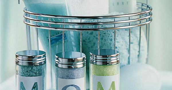 personalized spice jars with bath salts for spa gift