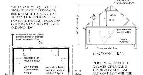 Basic 24 X 24 Garage Plan