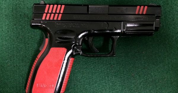 Springfield Xd In Gloss Black And S Amp W Red My Cerakote