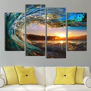 Aurora Mountain Scape Multi Panel Canvas Wall Art Elephantstock Canvas Wall Art Wall Canvas Canvas Art Wall Decor