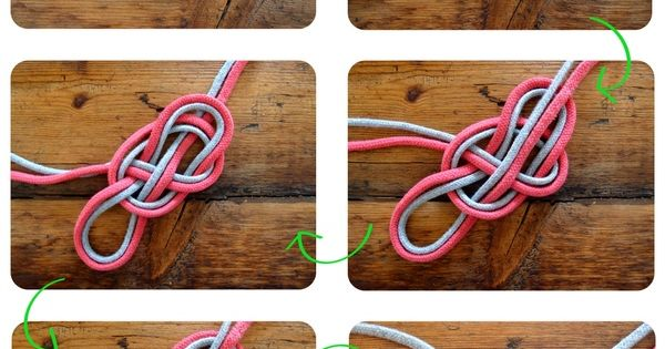 diy heartknot necklace