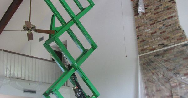 Painting A High Ceiling Can Involve Working In Difficult