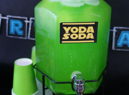 Yoda Soda for a Star Wars party starwars yodasoda. Future birthday party.