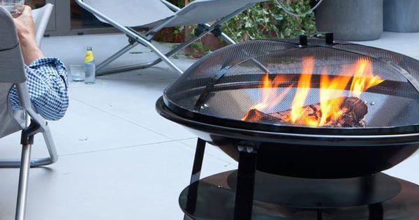 Barbecue charbon de bois brasero 70 cm castorama for Brasero de jardin castorama