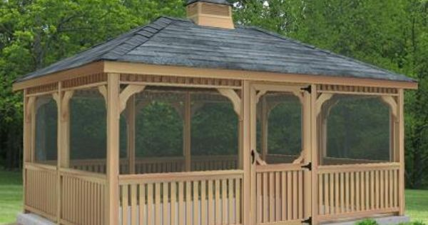 10 X 12 Cedar Rectangular Gazebo Gazebo Construction Patio Gazebo Rectangle Gazebo