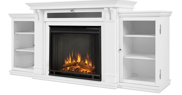 Calie Tv Stand With Electric Fireplace Included With Images