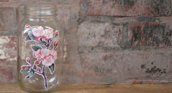 DIY Decoupage Jar With Free People Graphics | Free People Blog