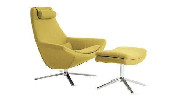 Lounge furniture - Metropolitan Lounge Chair And Ottoman B Amp B Italia