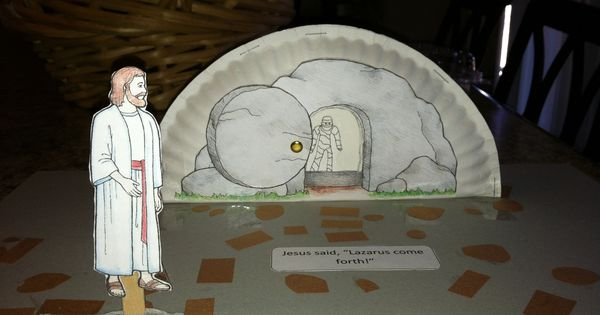 Lazarus come forth paper plate craft gospels pinterest for Jesus brings lazarus back to life coloring page