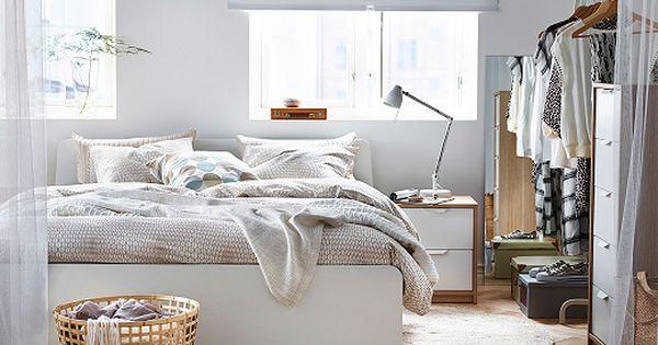 Askvoll Series White Stained Oak Effect White Ikea Ikea Bedroom Sets Bedroom Furniture Design Bedroom Design