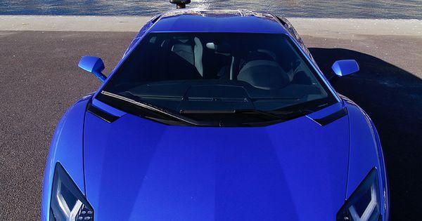 Lamborghini Aventador Blue cars