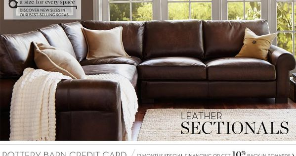Leather Sectionals Amp Leather Sectional Sofas Pottery
