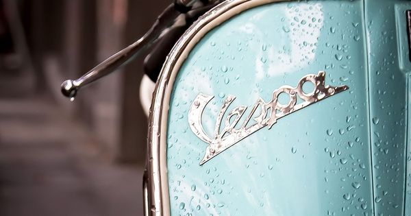 Tiffany blue Vespa Scooter