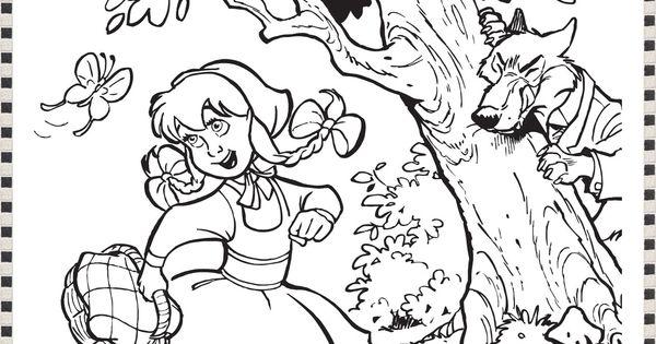 52 Best About Roodkapje En De Boze Wolf Pinterest Little Red Riding Hood Coloring Pages