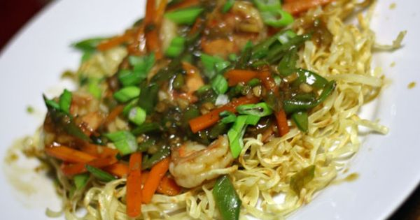 Snap peas, Noodles and Carrots on Pinterest