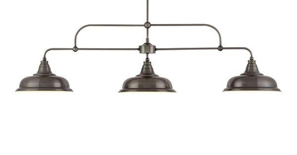 Next Oxford 3 Light Pewter Pendant Bar Three Light Linear Ceiling Nickel In Bedroom Ceiling Light Kitchen Ceiling Lights Home Lighting