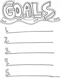 Goal Setting Coloring Pages And Printables Great For Home And School Enjoy Goals Worksheet Goal Setting Goals Template