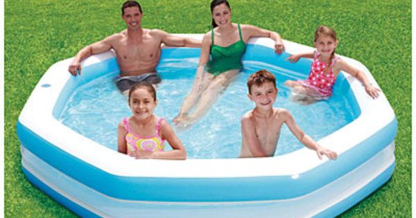Summer Escapes 10 39 Octagonal Family Pool At Big Lots Home Cleaning Organizing Pinterest