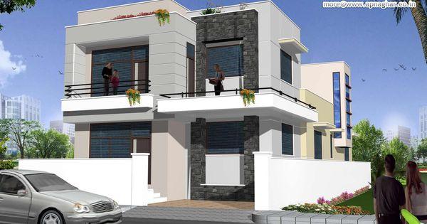 Modern duplex 2 floor house design area 198m2 9m x for 9m frontage home designs
