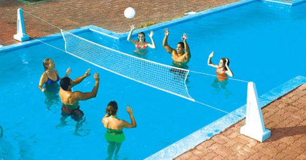 Cool jam combo basketball volleyball game for in ground for Pool design for volleyball