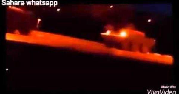 دبابات الجيش المغربي تزحف إلى مدينة العيون قادمة من السمارة Youtube Music Lockscreen Screenshot