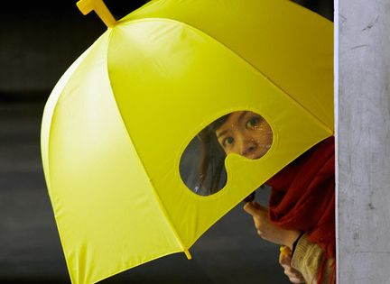 Yellow submarine goggle umbrella