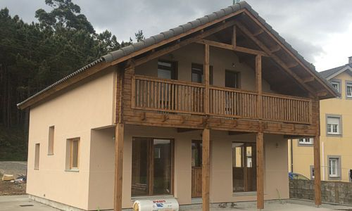 Incluido Montaje E Instalaciones Electricidad Casas De Madera Casas Madera Modernas Casas De Estilo Rustico