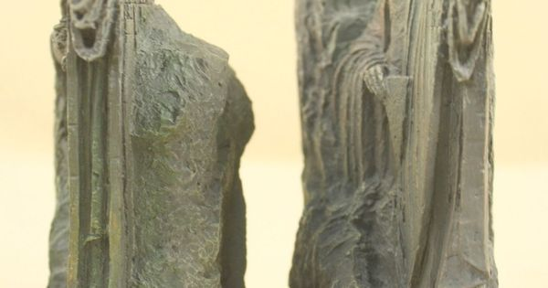 Sideshow Weta The Argonath Lord Of The Rings Statue Book End Figure Bust 6 Sideshow Weta